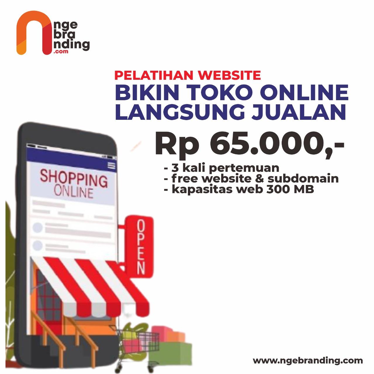 Bikin Toko Online Langsung Jualan